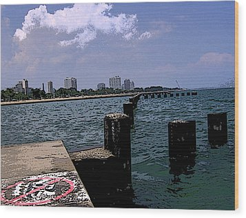 Wood Print featuring the photograph The Pier by Skyler Tipton