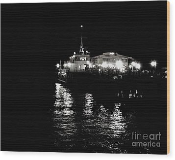 Wood Print featuring the photograph The Pier by Vanessa Palomino