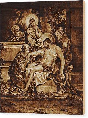 The Pieta Wood Print by Dino Muradian