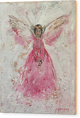 The Pink Angel  Wood Print by Jun Jamosmos