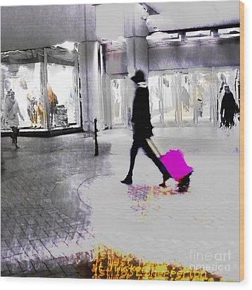 Wood Print featuring the photograph The Pink Bag by LemonArt Photography