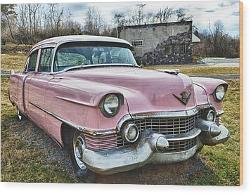 The Pink Cadillac II Wood Print by Kathy Jennings