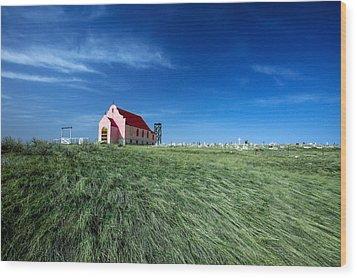 The Pink Church Wood Print