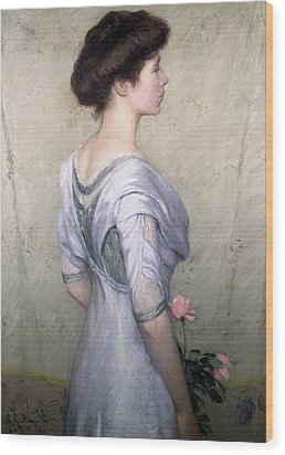 The Pink Rose Wood Print by Lilla Cabot Perry