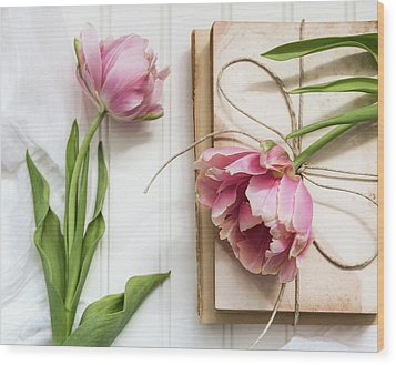 Wood Print featuring the photograph The Pink Tulips by Kim Hojnacki
