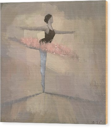 The Pink Tutu Wood Print by Steve Mitchell