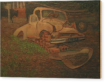 The Pipe Cover Wood Print by Terry Perham