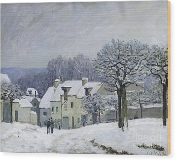 The Place Du Chenil At Marly Le Roi Wood Print by Alfred Sisley