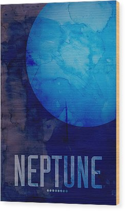 The Planet Neptune Wood Print by Michael Tompsett