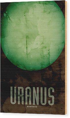 The Planet Uranus Wood Print by Michael Tompsett