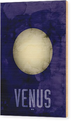 The Planet Venus Wood Print by Michael Tompsett