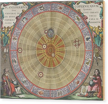 The Planisphere Of Copernicus Harmonia Wood Print by Science Source