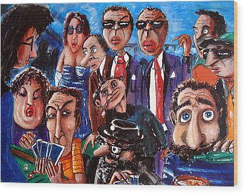The Players Wood Print