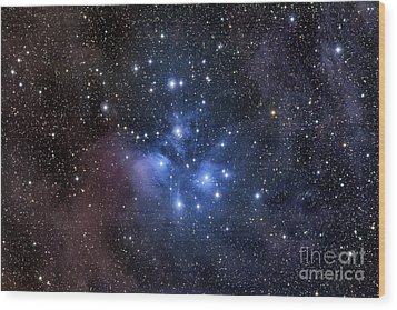 The Pleiades, Also Known As The Seven Wood Print by Roth Ritter