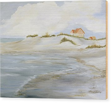 The Point Wood Print by Shirley Lawing