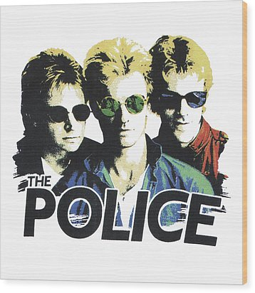 Wood Print featuring the digital art The Police by Gina Dsgn