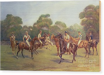 The Polo Match Wood Print by C M  Gonne