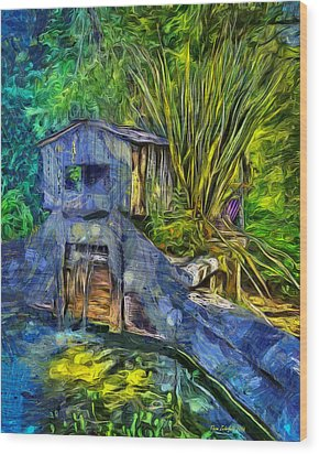 Wood Print featuring the photograph Blakes Pond House by Thom Zehrfeld