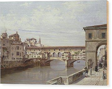 The Pontevecchio - Florence  Wood Print by Antonietta Brandeis