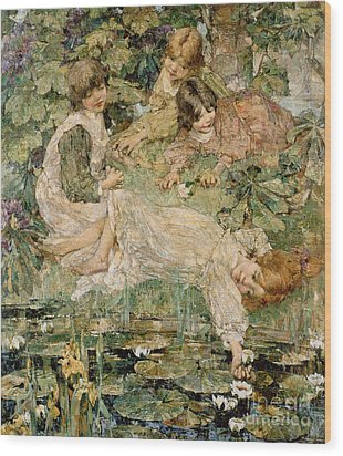The Pool Wood Print by Edward Atkinson Hornel