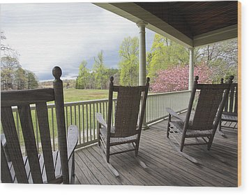 The Porch  Wood Print by Steve Gravano