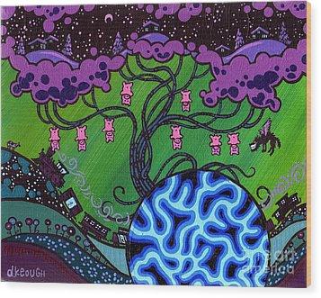 The Pork Tree Wood Print by Dan Keough