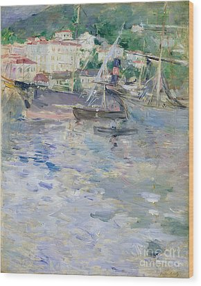 The Port At Nice Wood Print by Berthe Morisot