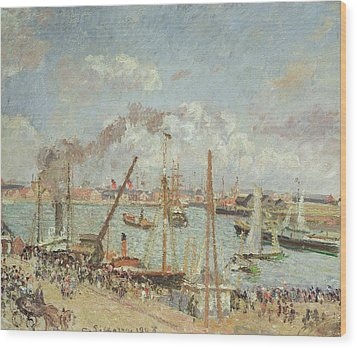 The Port Of Le Havre In The Afternoon Sun Wood Print by Camille Pissarro