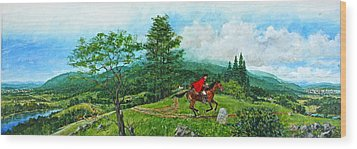 Wood Print featuring the painting The Post Road by Cliff Spohn