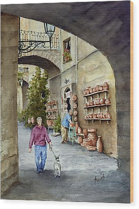 The Pottery Shop Wood Print by Sam Sidders