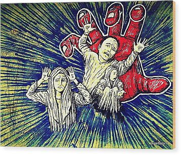 The Power Of Owning Wood Print by Paulo Zerbato