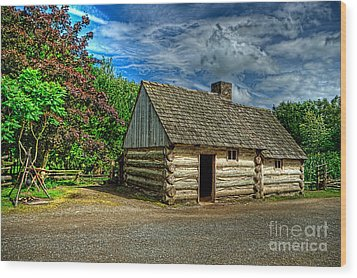 The Prairie House Wood Print by Kim Shatwell-Irishphotographer
