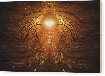 Wood Print featuring the photograph The Prayer by Jalai Lama