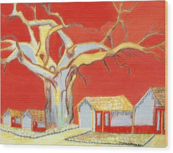 The Pride Of The Village Wood Print by Connie Valasco