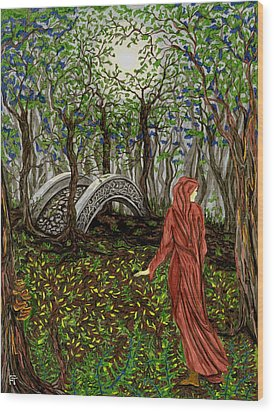 The Priestess Of Ealon Wood Print by FT McKinstry