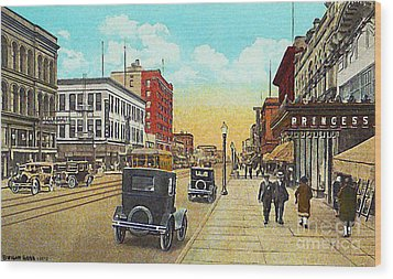 The Princess Theatre In Superior Wi In The 1930's Wood Print