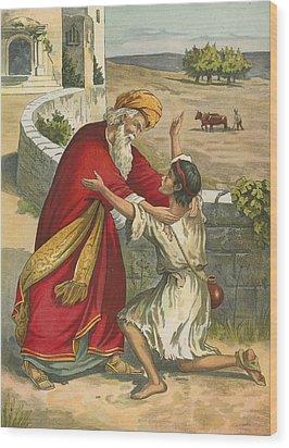 The Prodigal's Return Wood Print by  English School