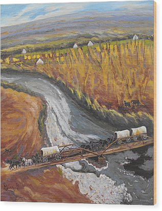 The Promise Of The Uncompahgre River Wood Print