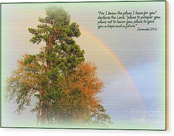 The Promises Of God Wood Print