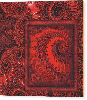The Proper Victorian In Red  Wood Print by Wendy J St Christopher
