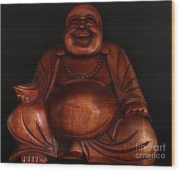 The Protector Of Wealth Wood Print by Nancy Harrison