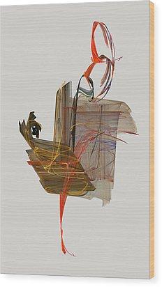 The Proud Rooster Wood Print by Jackie Mueller-Jones