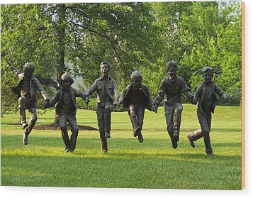The Puddle Jumpers At Byers Choice Wood Print by Trish Tritz