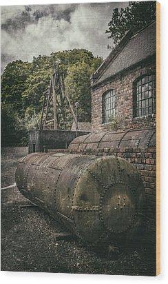 The Pumping House Wood Print by Stewart Scott