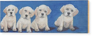 The Pups 1 Wood Print by Roger Wedegis
