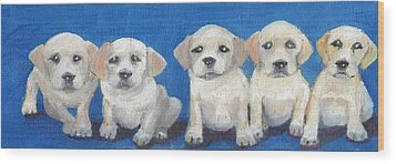 The Pups 2 Wood Print by Roger Wedegis