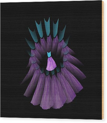 The Purple And Teal Dream Circle Of Wise Women Wood Print by Jacqueline Migell