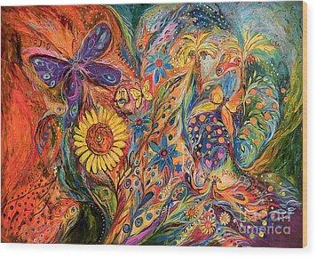 The Purple Butterfly Of Yotvata Wood Print by Elena Kotliarker
