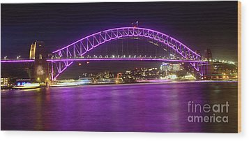 Wood Print featuring the photograph The Purple Coathanger By Kaye Menner by Kaye Menner