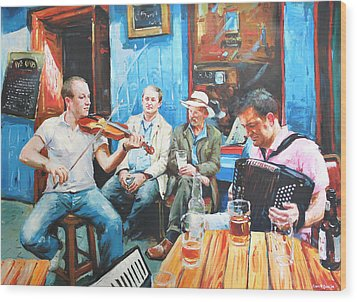 The Quay Players Wood Print by Conor McGuire
